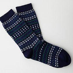 """<strong>Bleuforet</strong> Jacquard Wool Silk Socks, <a href=""""http://www.stevenalan.com/JACQUARD-WOOL-SILK-SOCK/94083,default,pd.html"""">$24</a> at Steven Alan"""