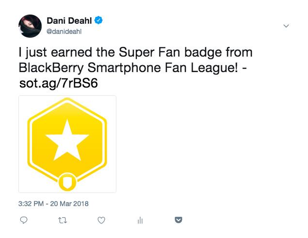 BlackBerry Smartphone Fan League