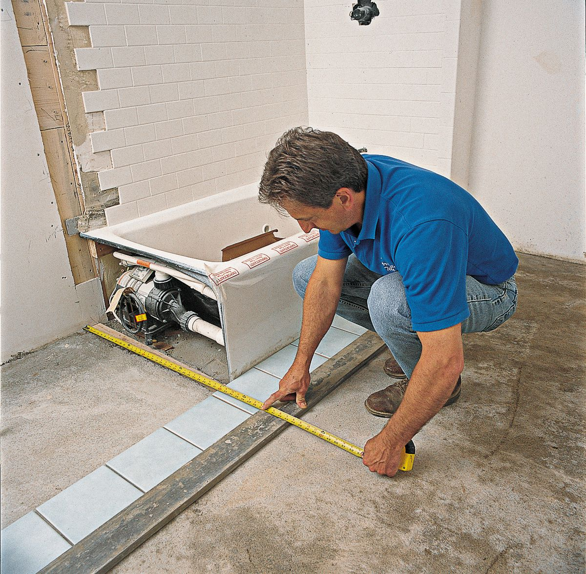 Measure Tile Placement From Wall