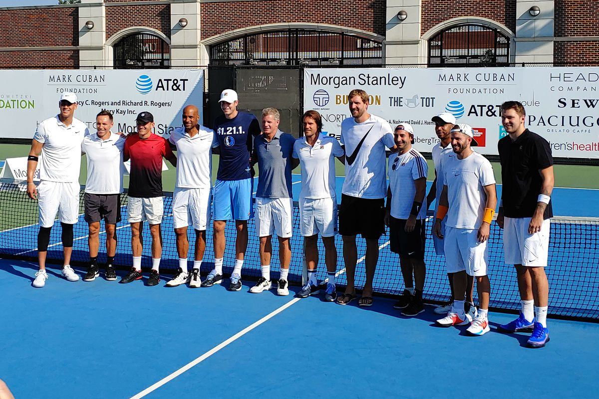 The jokes were flying at the 4th annual Dirk Nowitzki Pro Celebrity Tennis Classic
