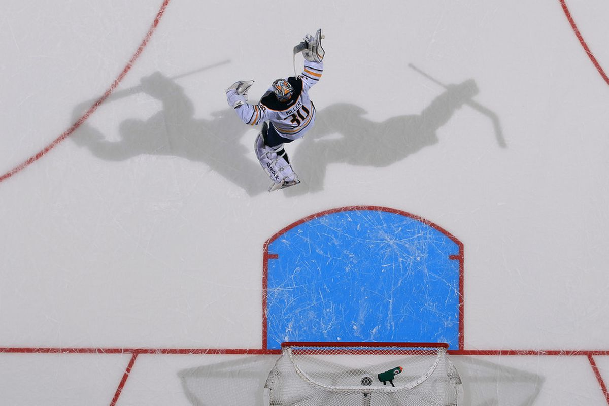 Ryan Miller is now the all-time leader in wins for a Sabres goaltender, and also leads the team in number of shadows.