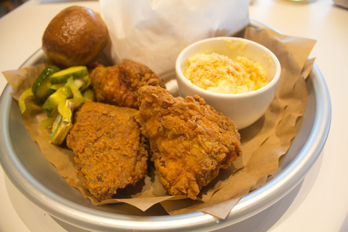 J.T. Youngblood's fried chicken