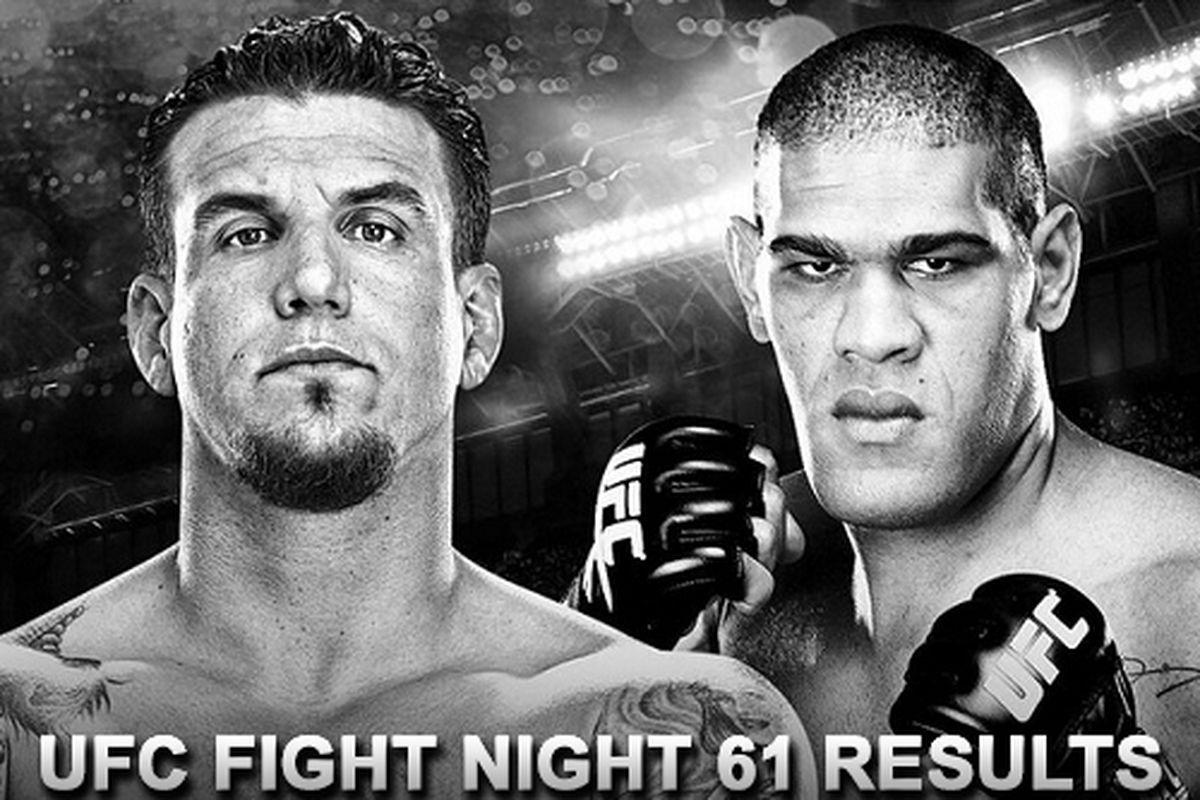 UFC Fight Night 61 live result...