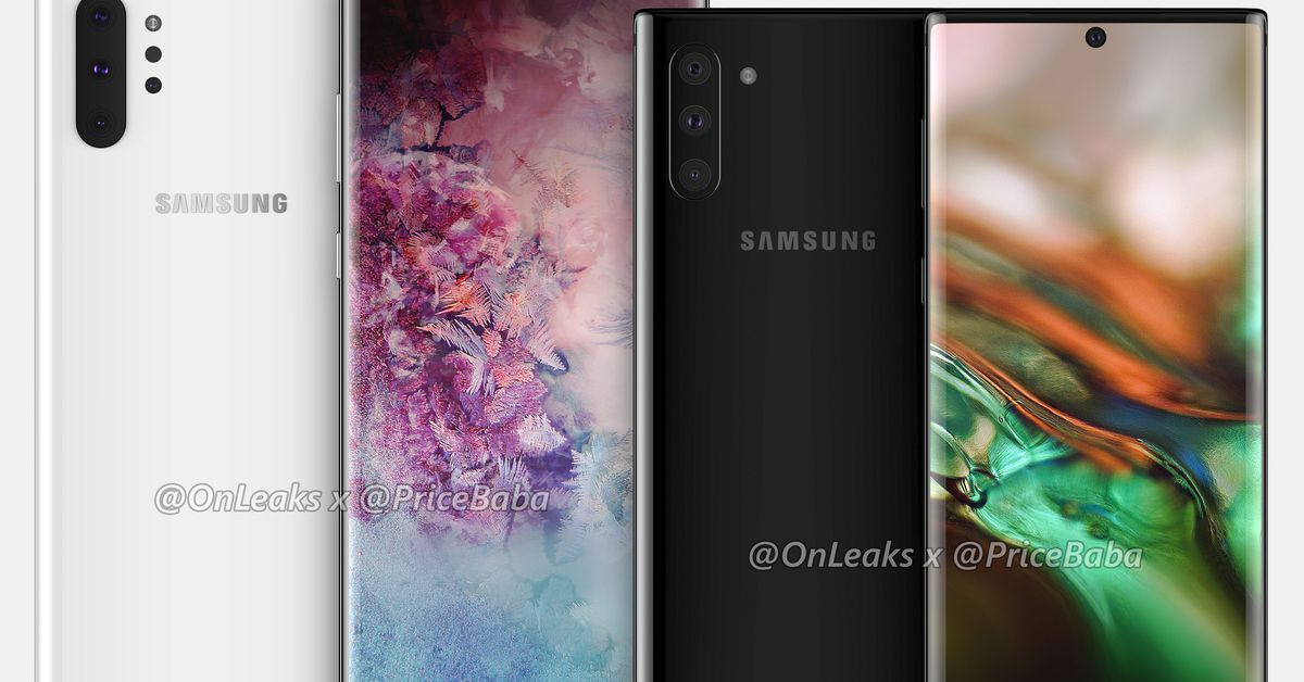 Samsung Galaxy Note 10 Pro Renders Reveal Giant Screen and no Headphone Jack
