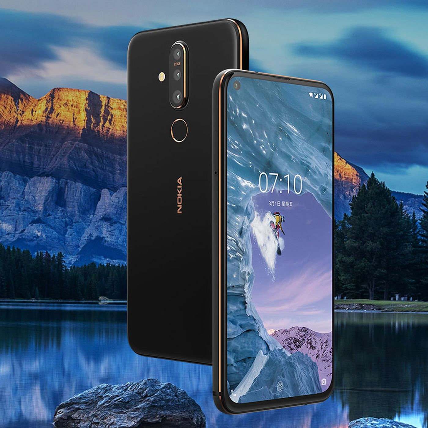 Nokia X71 with 48-megapixel camera and hole-punch display