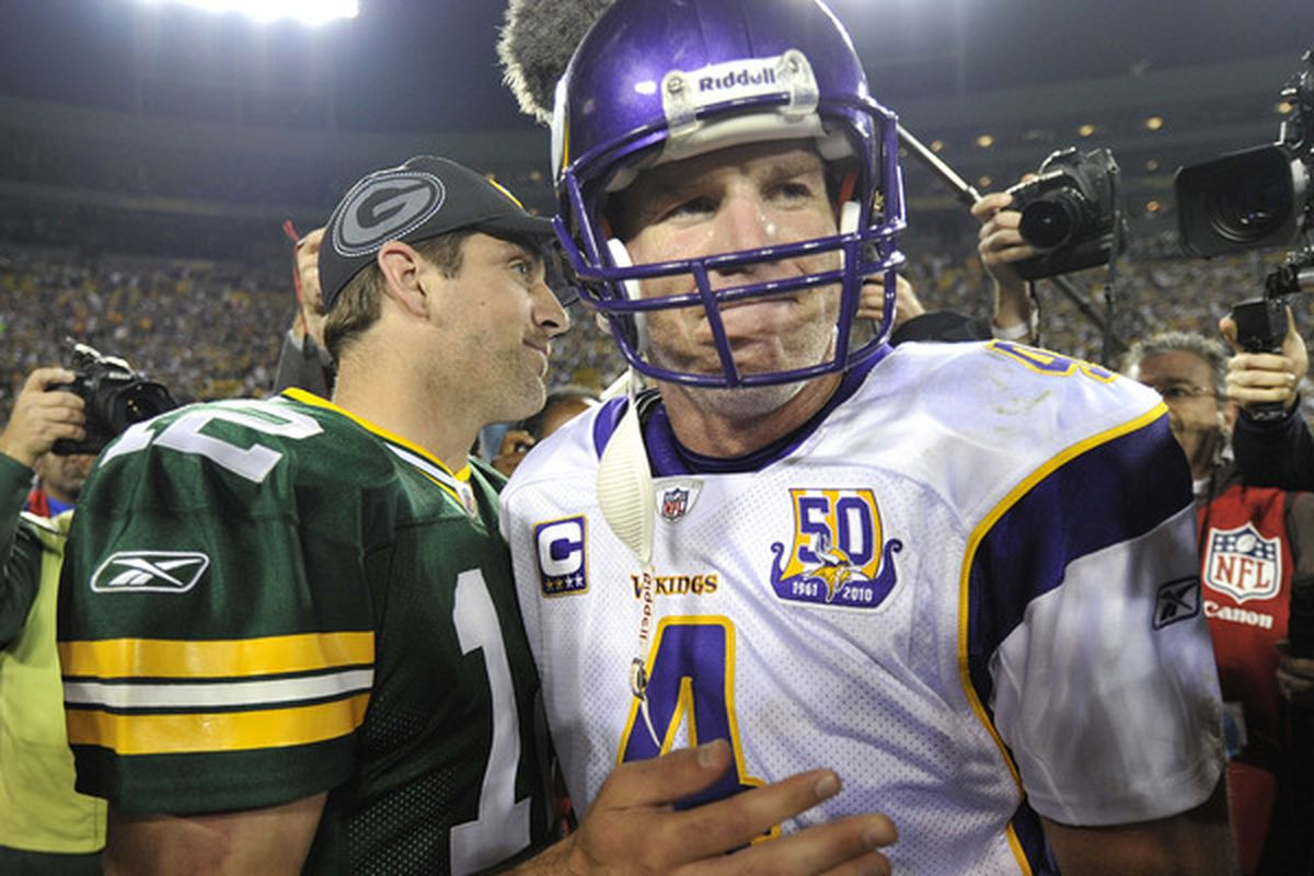 sneakers for cheap e45eb 3623e Brett Favre: Aaron Rodgers will 'shatter' my records ...