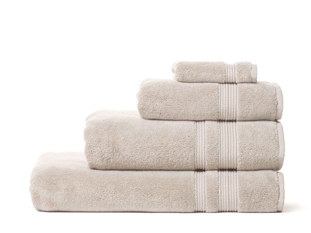 A set of beige towels
