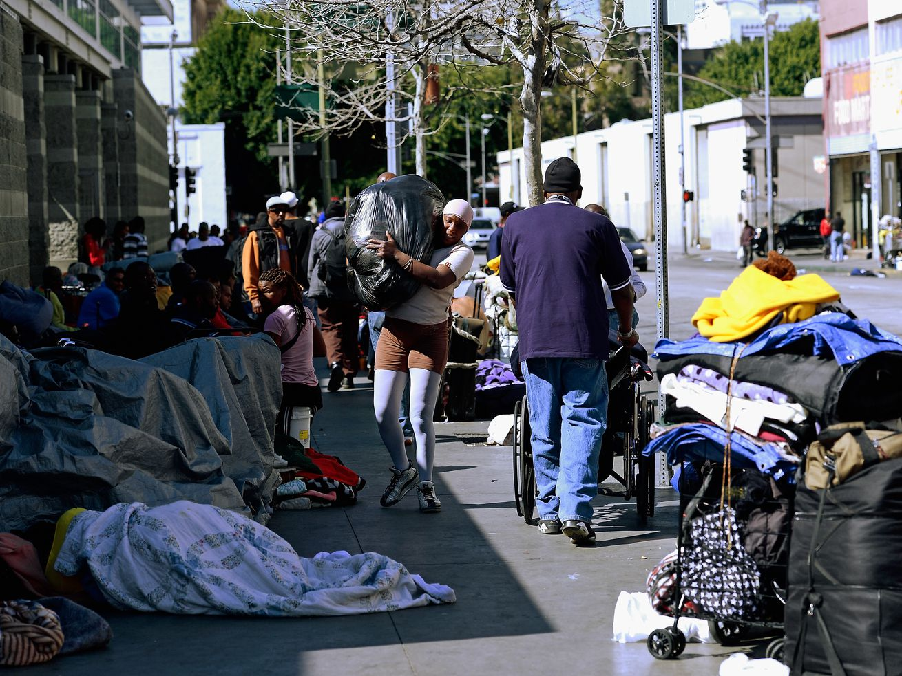 More than 2,000 people live without shelter in Downtown.