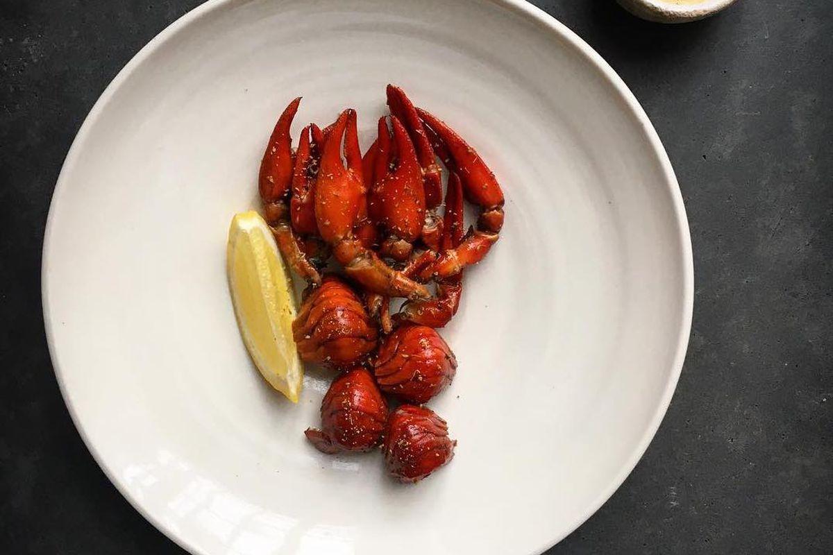 Crayfish at Lyle's, a London restaurant, taken on Instagram