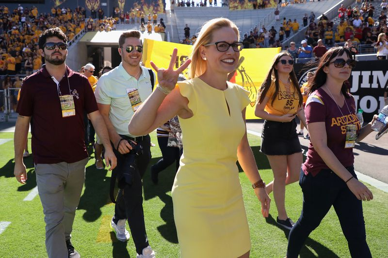 Arizona Senate Candidates Attend Arizona State Football Game