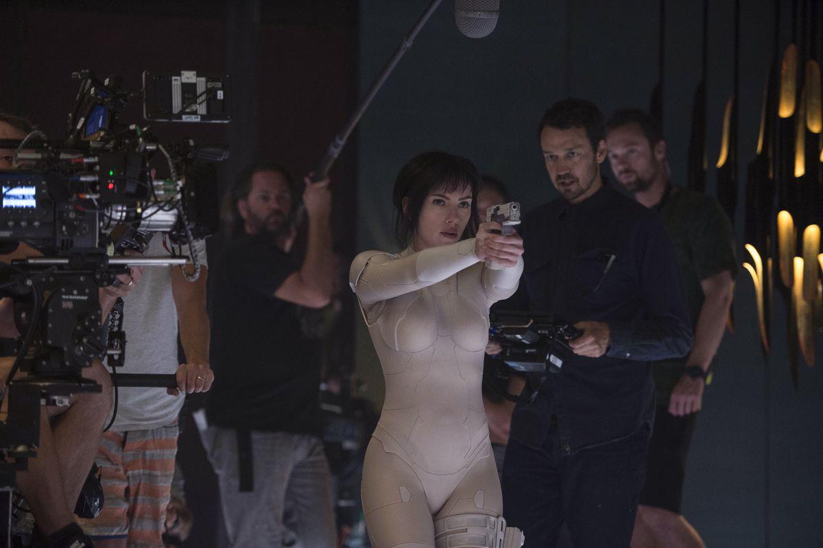 Scarlett Johansson and director Rupert Sanders (Paramount)