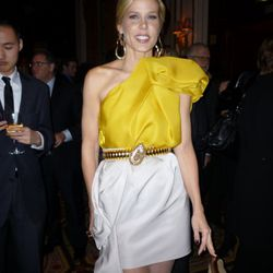 Mary Alice Stephenson in her first outfit of the night by Lanvin