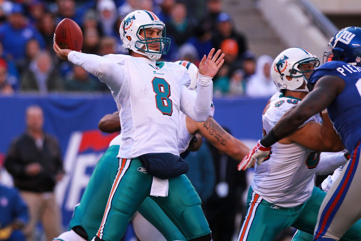 """""""I'll be dressing as a semi-competent Miami Dolphins quarterback for Halloween this year."""""""