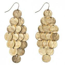 Circle Chandelier Earrings in Gold $14.99