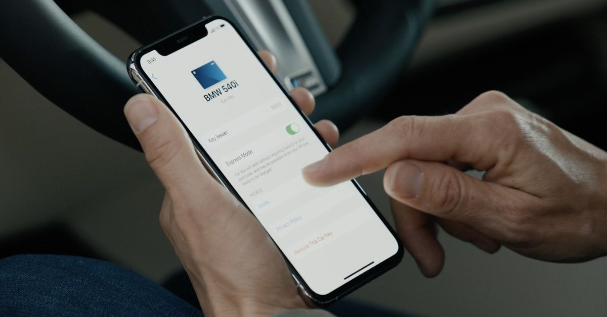 BMW DIGITAL KEY FOR iPHONE ANNOUNCEMENT