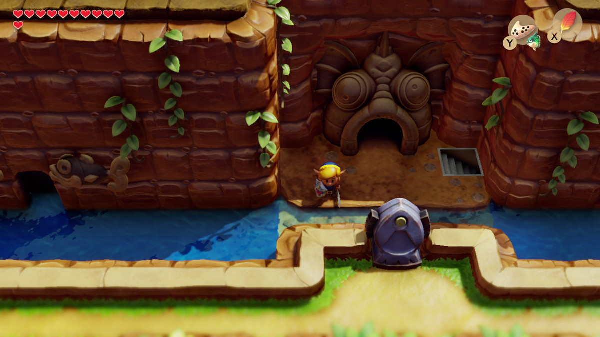 Link's Awakening Manbo's cave is just to the left of the Angler's Tunnel entrance