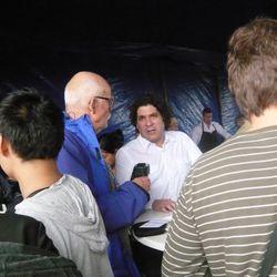 Gaston Acurio, mid-interview.