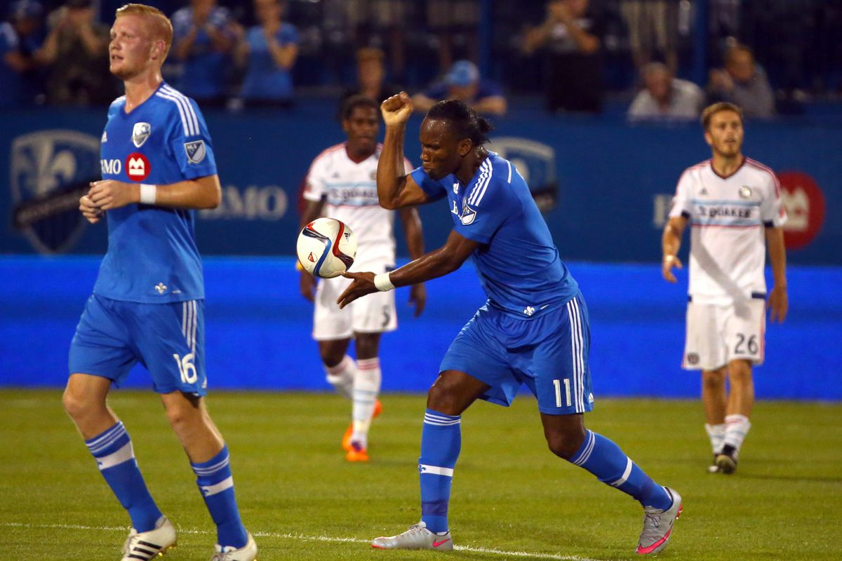 Drogba with a punch