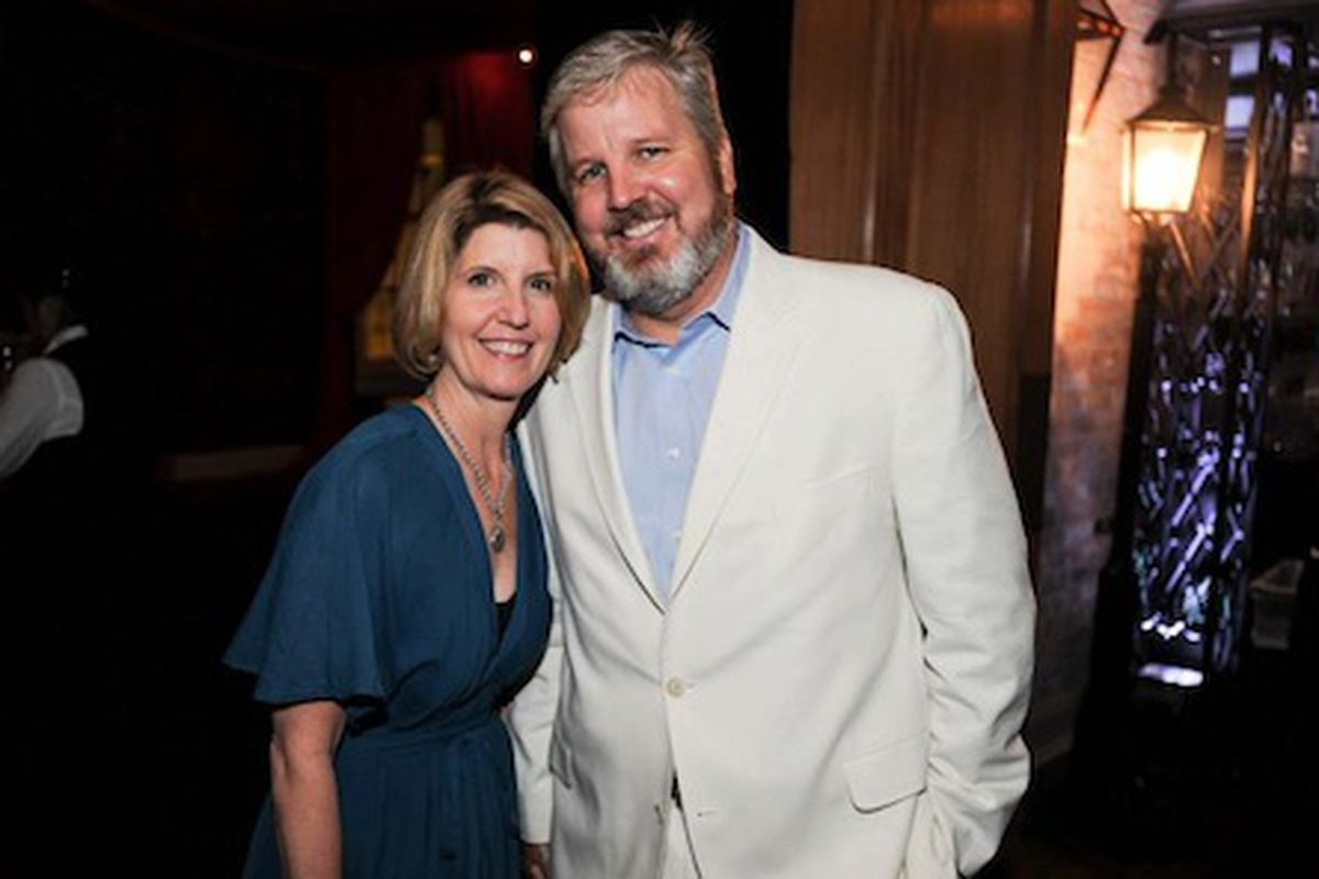 Ann Tuennerman with husband Paul at a TOTC party