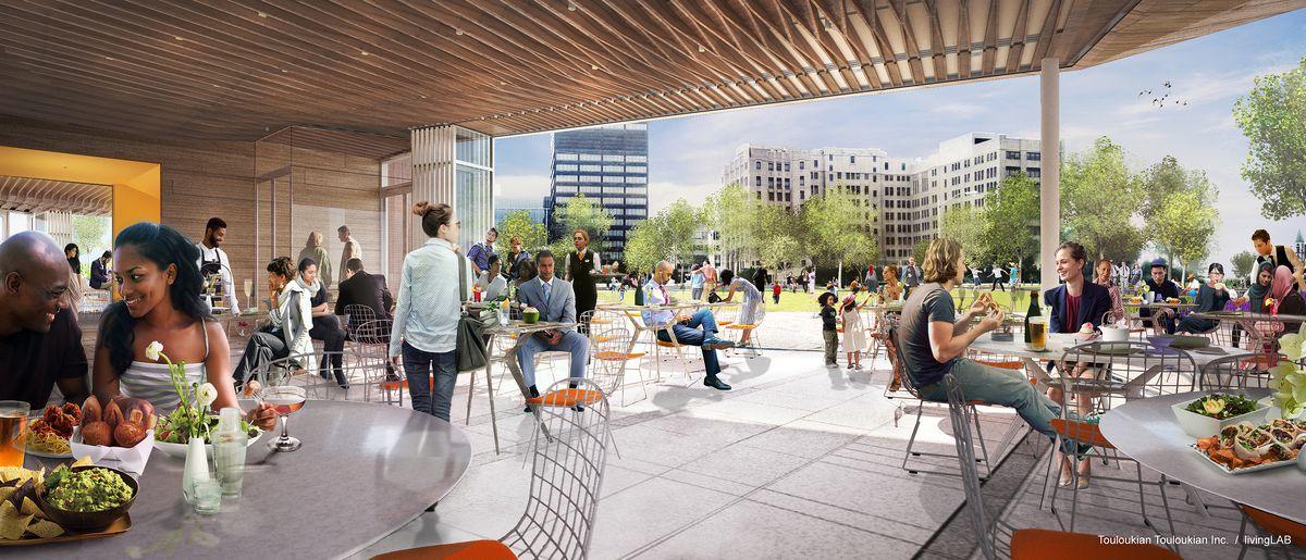 DTE Energy Park restaurant rendering