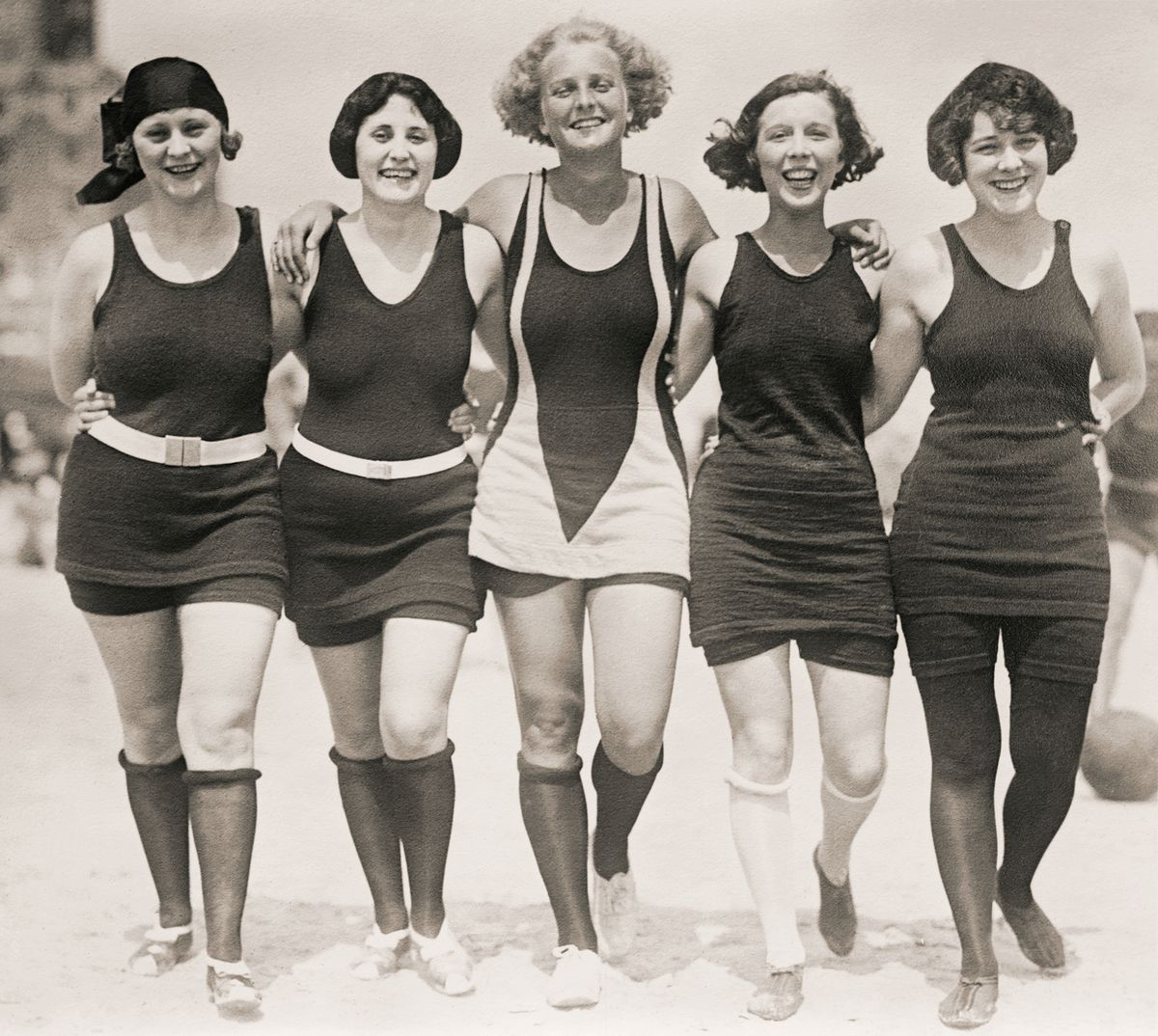 Wool bathing suits. They were real.