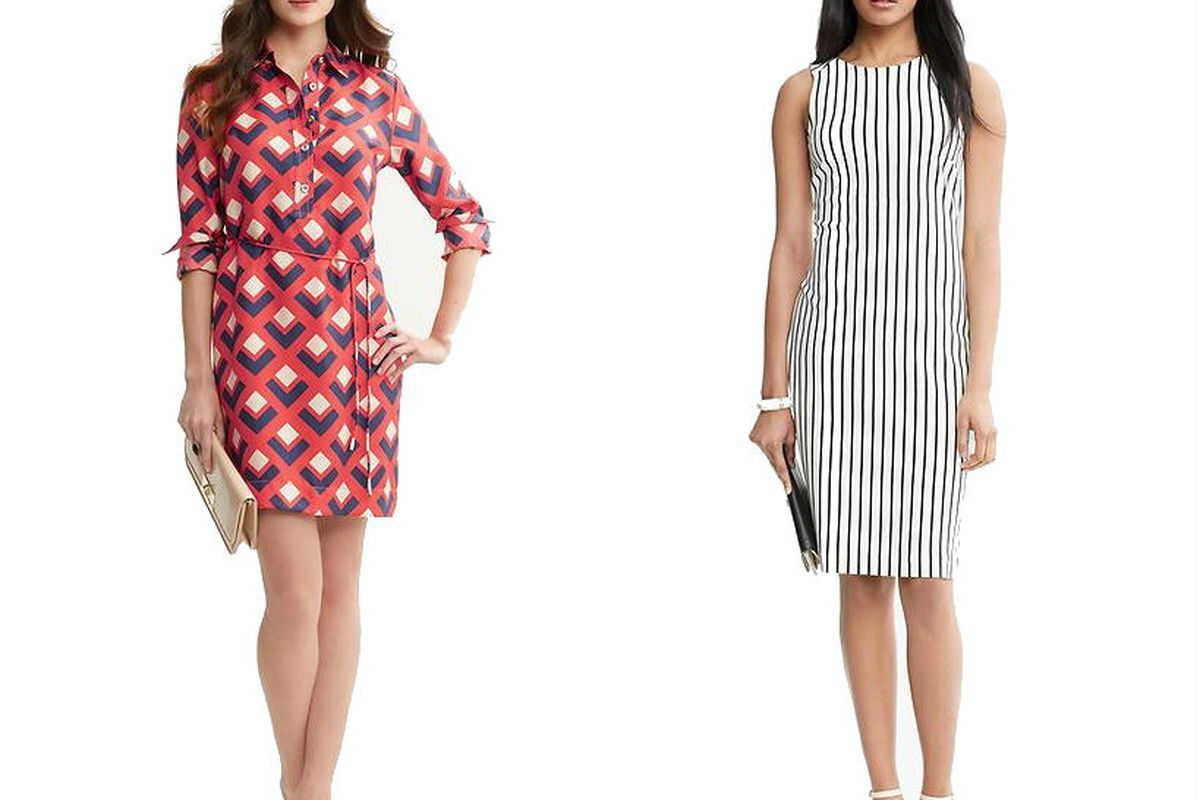 """Two looks from <a href=""""http://bananarepublic.gap.com/browse/category.do?cid=69572"""">Banana Republic</a>"""