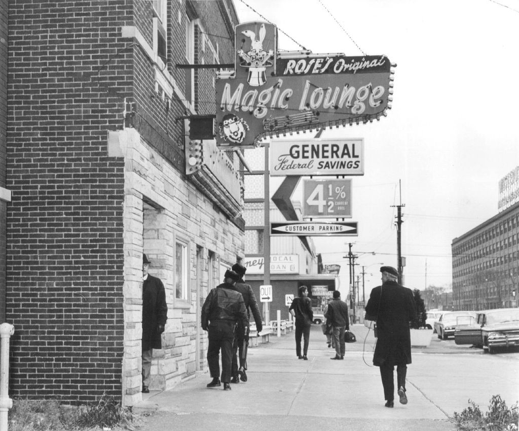 Sheriff's police investigate allegations of gambling and vice at a Cicero bar in 1964. File Photo.