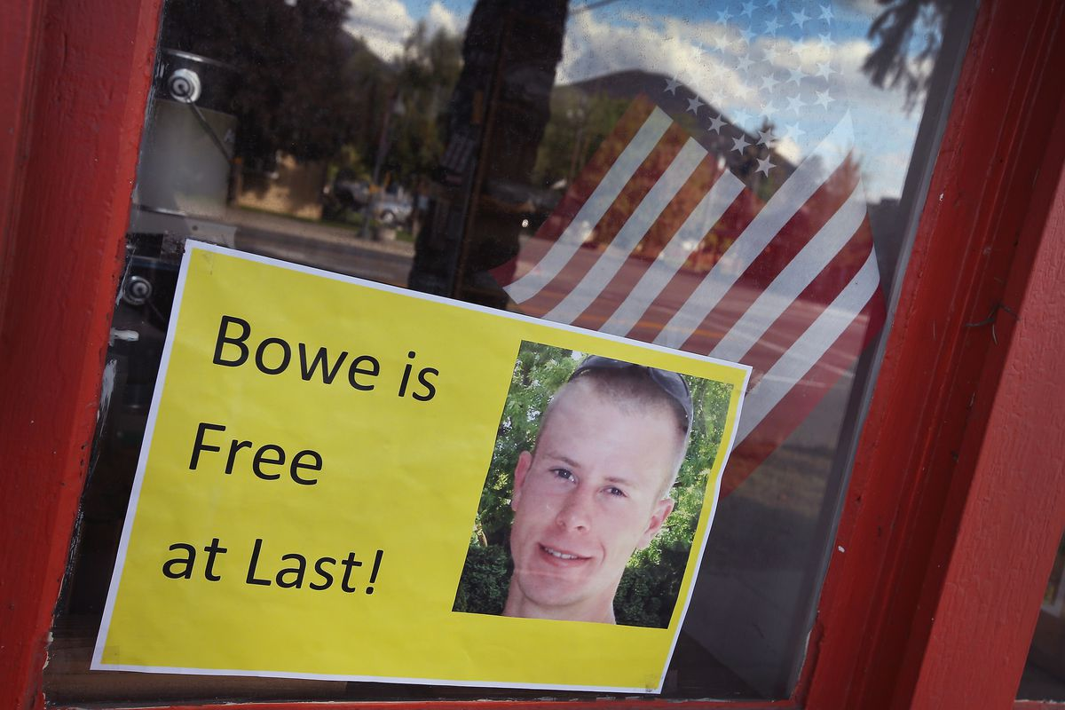 A sign in Sgt. Bowe Bergdahl's hometown celebrating his release.