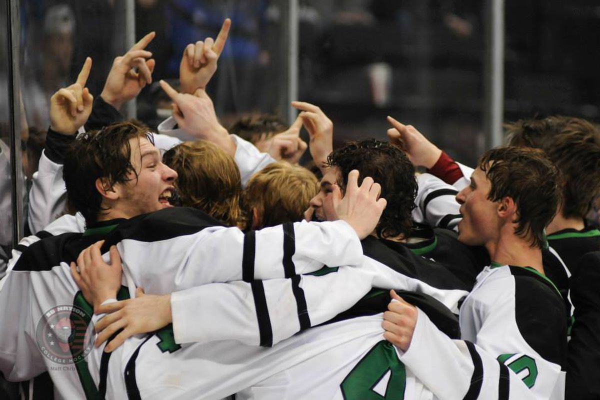 East Grand Forks, celebrating their first title last season