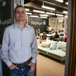 Neal Harmon, cofounder and CEO of VidAngel, poses for a photo at the company's office in Provo on Wednesday, July 20, 2016.