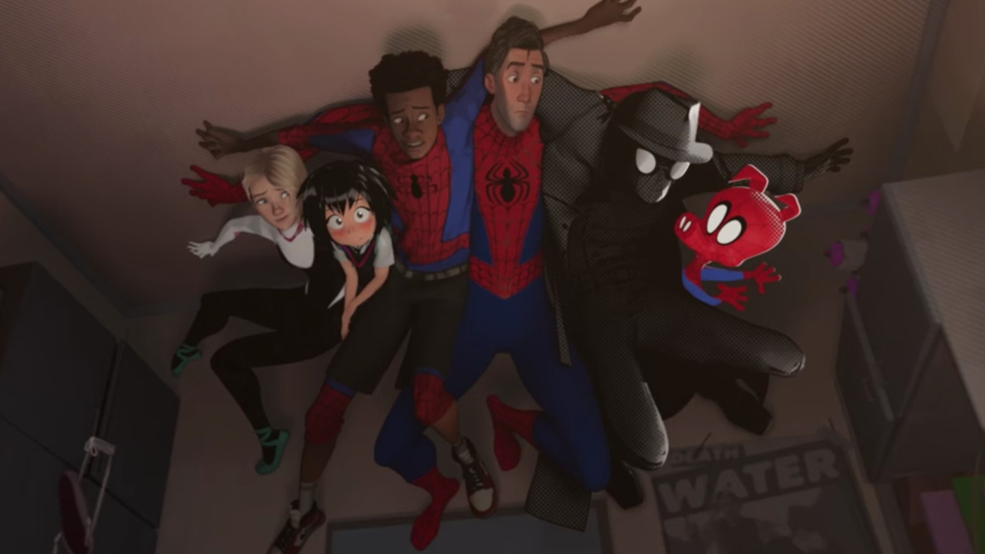 New Spider Man Into The Spider Verse Trailer Features Six Spideys The Verge