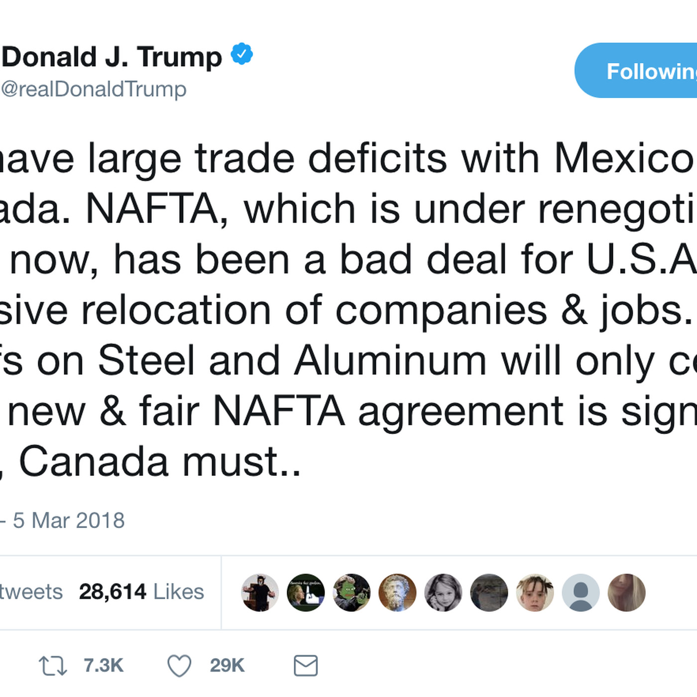 Trump might drop tariffs for mexico and canada depending on new trump might drop tariffs for mexico and canada depending on new nafta vox platinumwayz