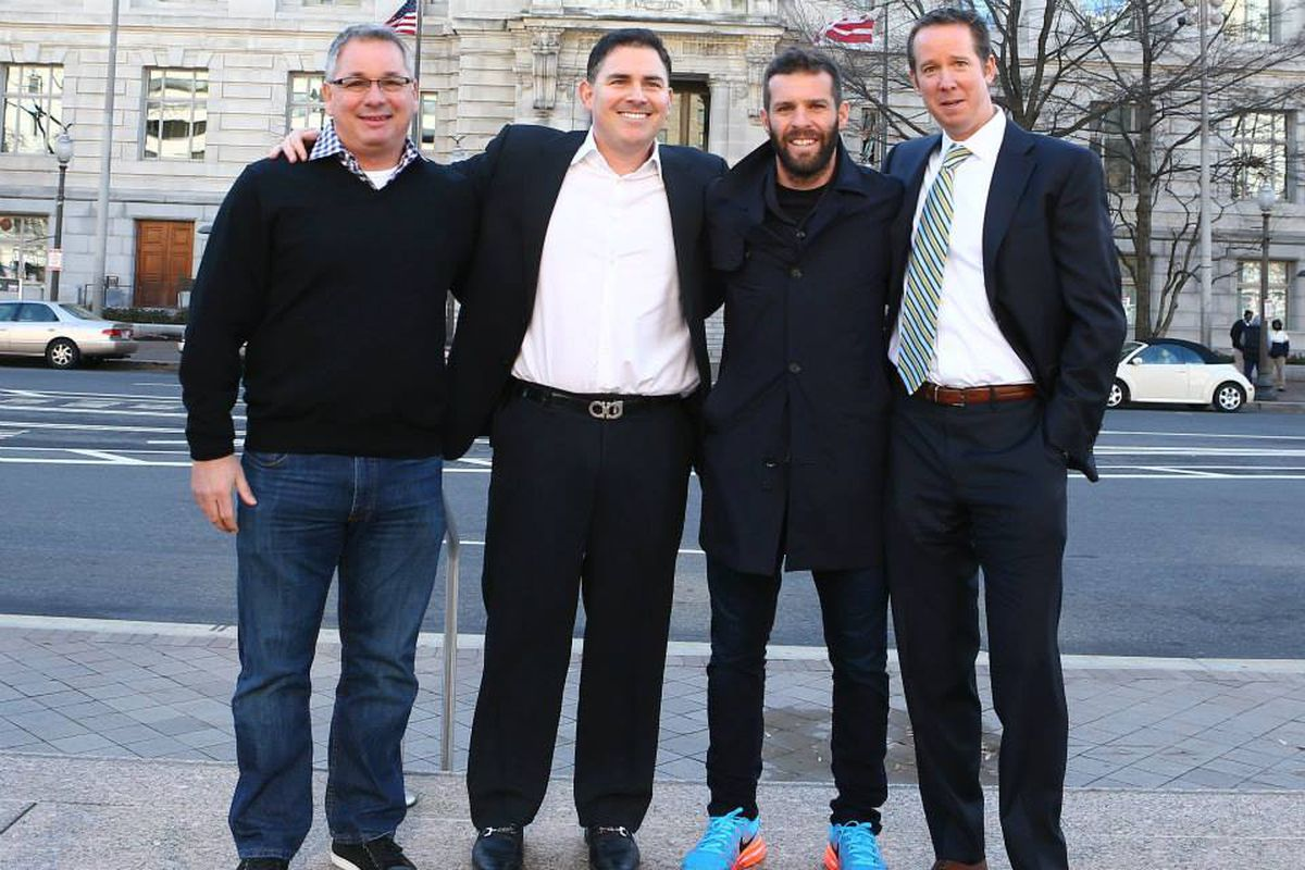 Dave Kasper, Jason Levien, Ben Olsen, and Tom Hunt