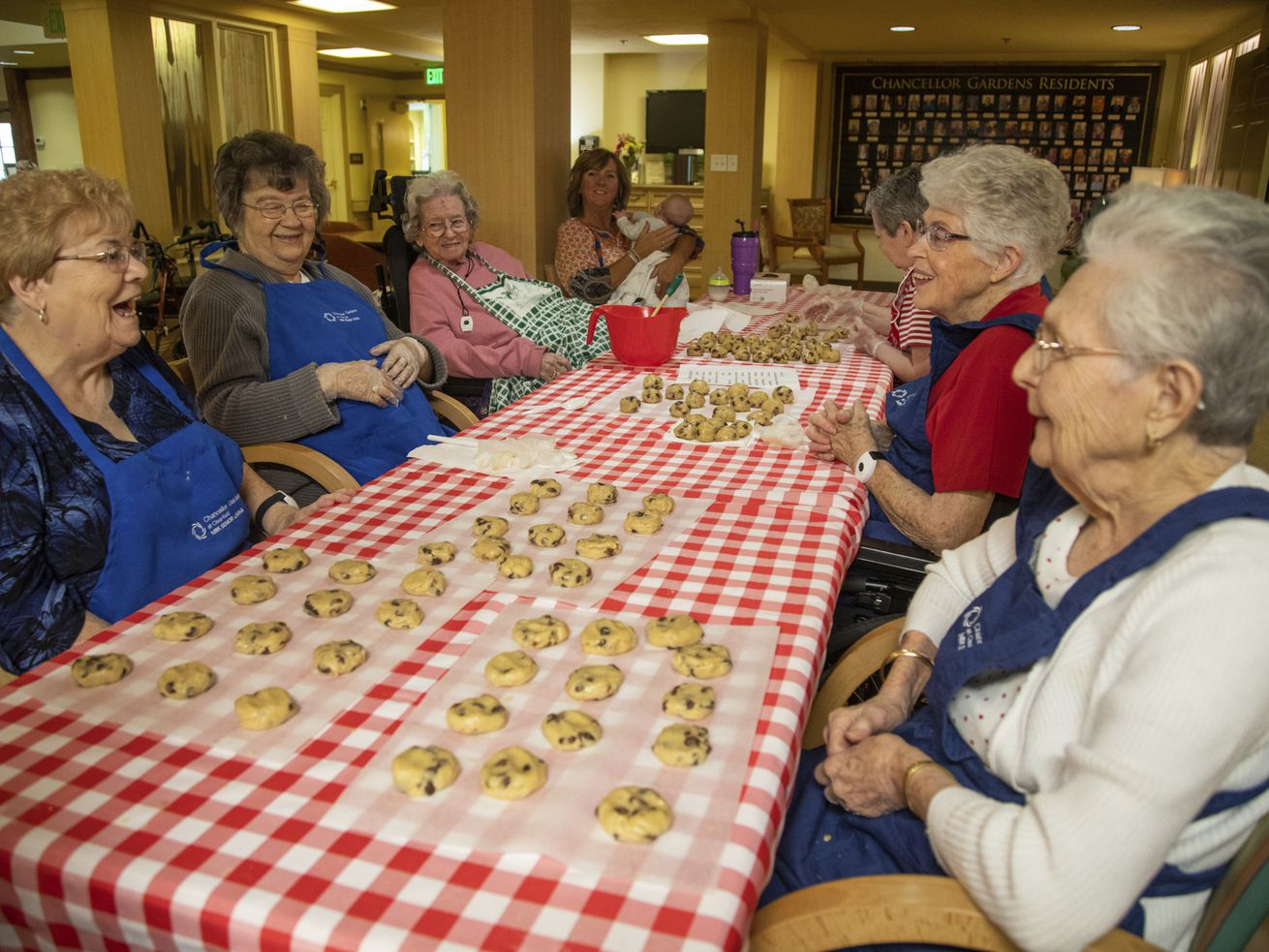 Senior citizens raising money for charity with bake sales
