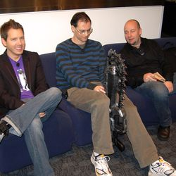 Cliff, Tim Sweeney, Mike Capps at GDC 2008