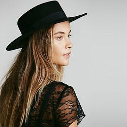 """<strong>Lack of Color</strong> Classic Flat Top Boater, <a href=""""http://www.freepeople.com/accessories-hats/classic-flat-top-boater/"""">$68</a> at Free People"""