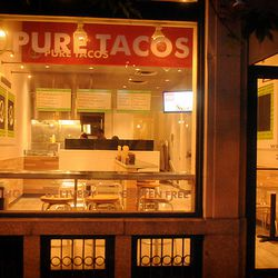 The exterior of Pure Tacos