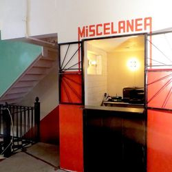 A few grocery items will also be sold out of this little window. Down the stairs is a massive basement level, which Wolos plans to turn into a seafood restaurant called <b>Mariscos Madison</b> by June.