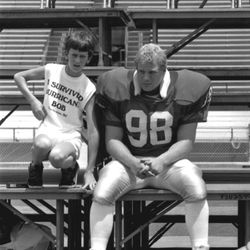 <strong>1985- Keith Southwood with a  future Nole</strong>
