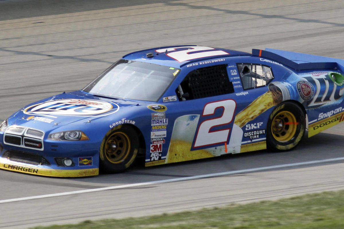 Brad Keselowski drives during the NASCAR Sprint Cup Series auto race  at Chicagoland Speedway in Joliet, Ill., Sunday, Sept. 16, 2012.
