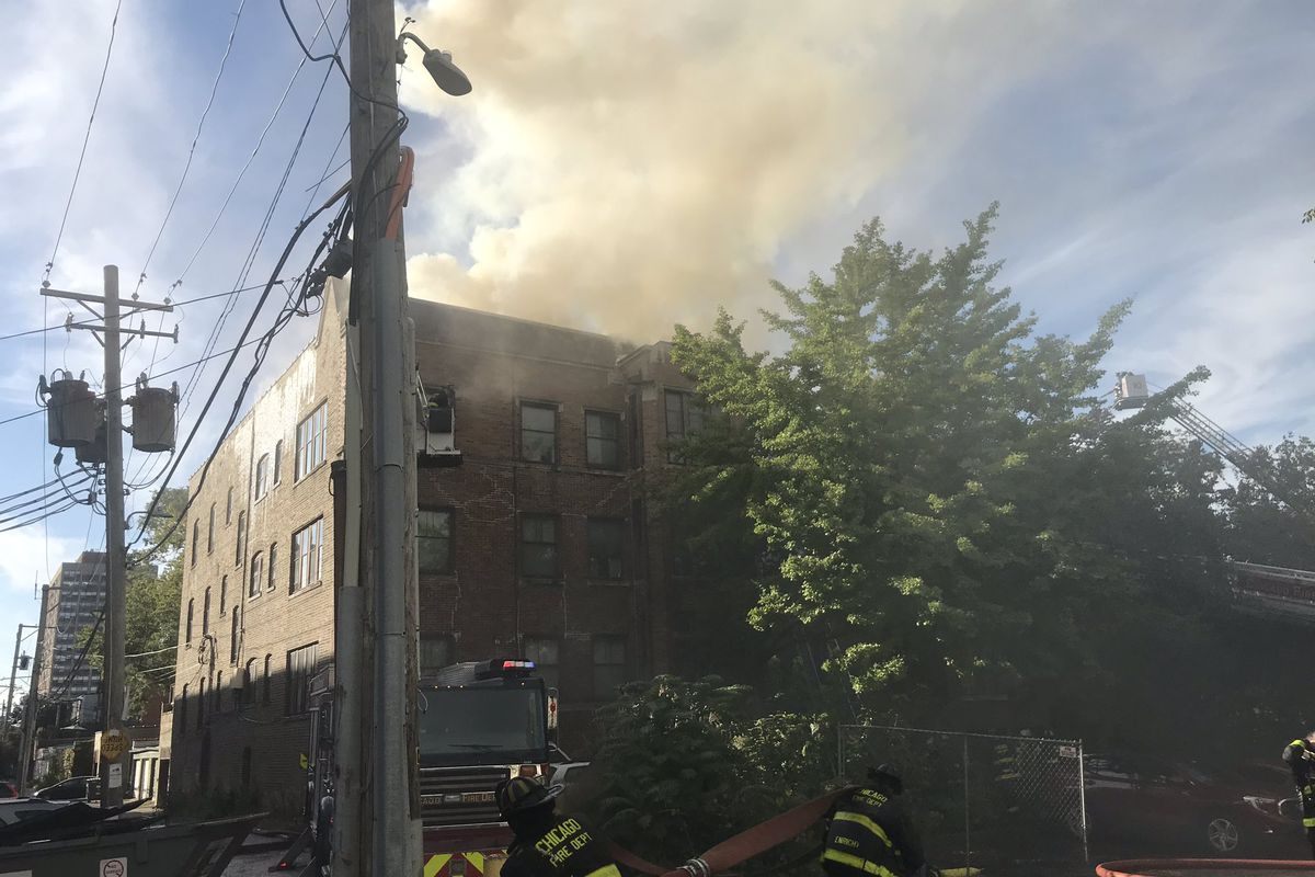 1 injured in fire at Uptown apartment building