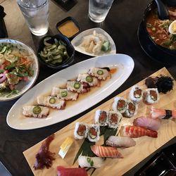 Ramen, sushi and rolls