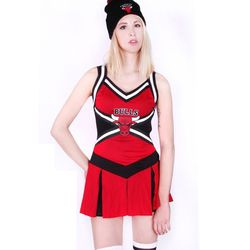 """Bulls cheerleader, <a href=""""http://patriciafield.com/collections/halloween-costumes/products/bulls-cheerleader-2pcs"""">$62</a>"""