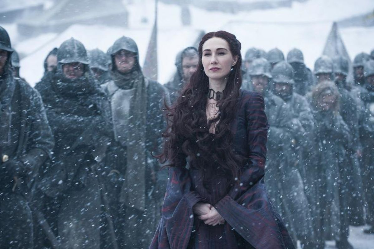 Melisandre at war in Game of Thrones