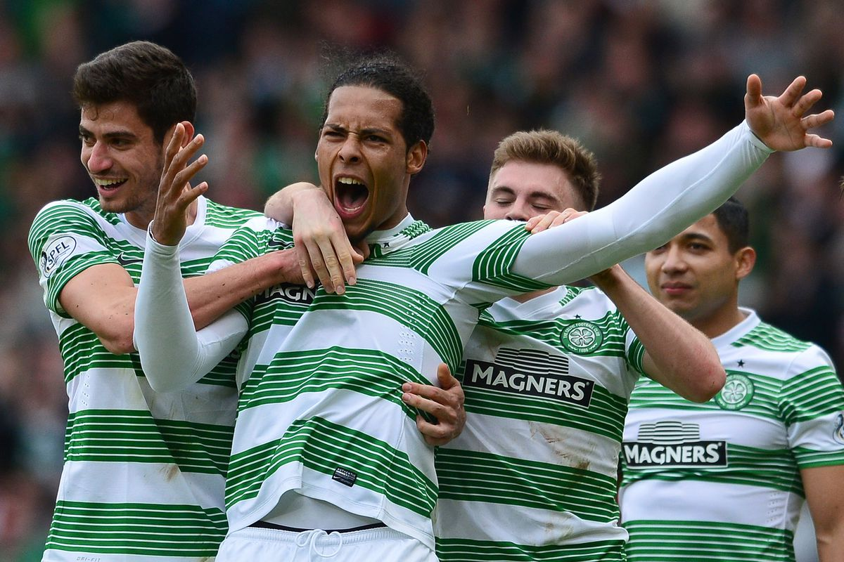 Van Dijk was part of the Celtic squad that completed a league and cup double last season.