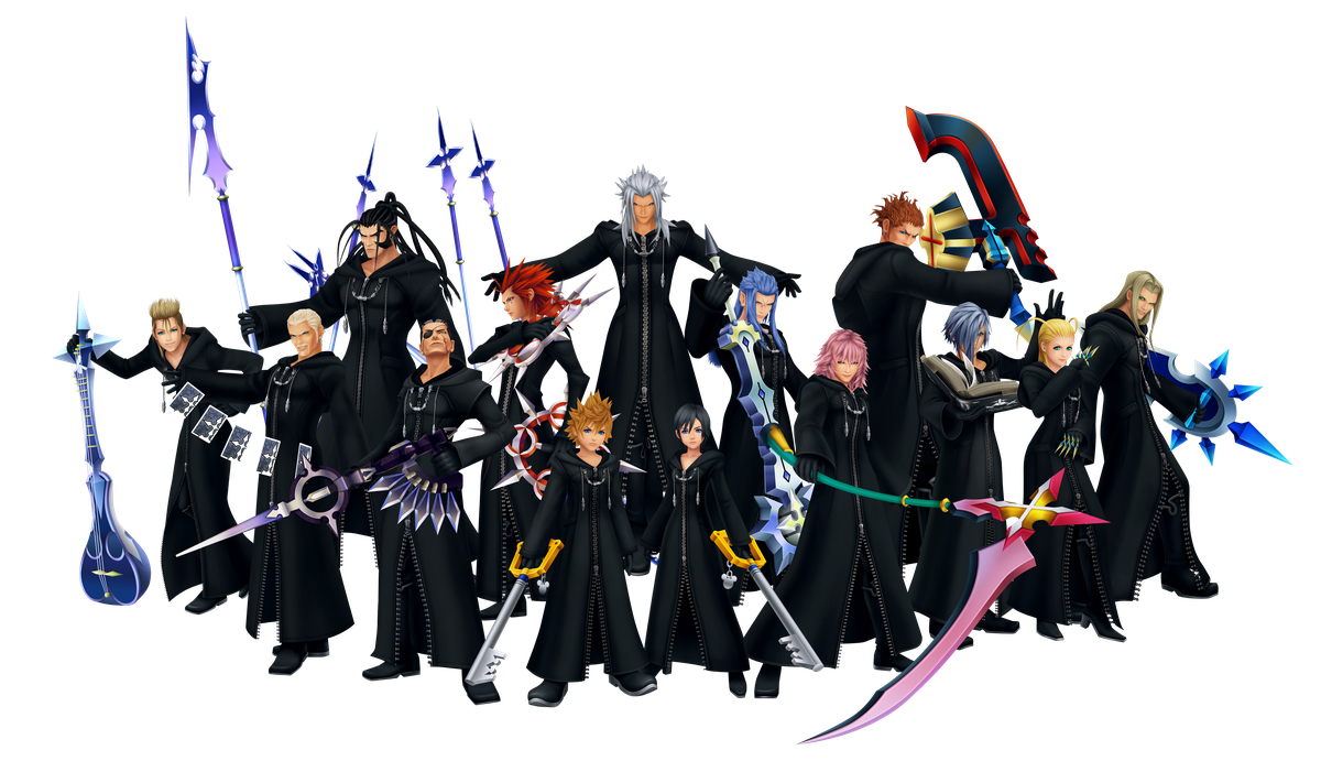 A group image of Organization XIII from Kingdom Hearts 2
