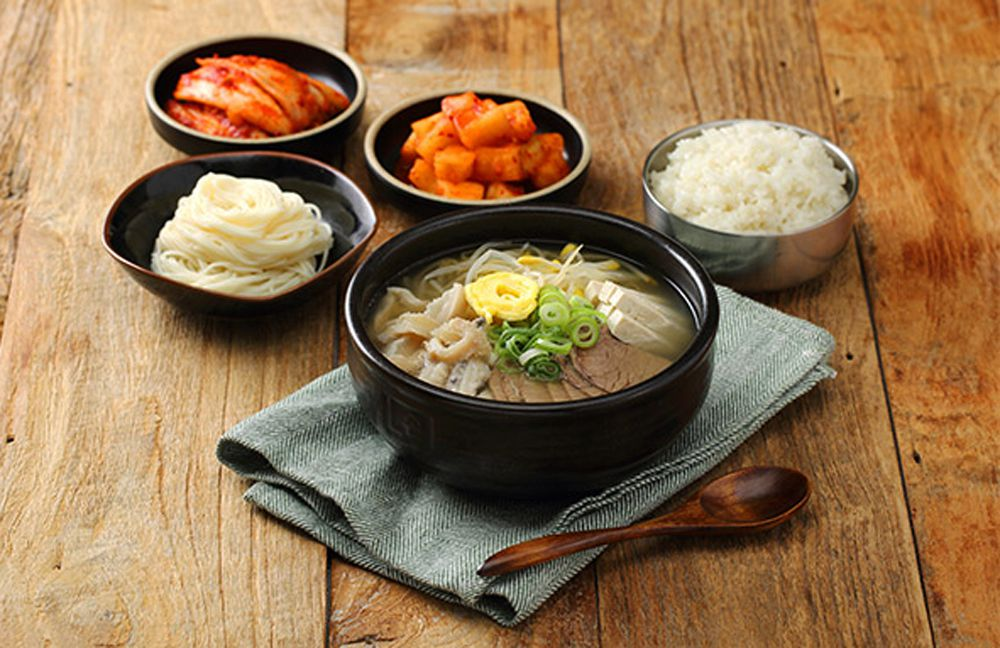Array of Korean dishes