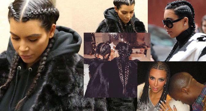 Kim Kardashian's hairstyles.