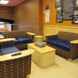 Couches for lounging while sipping your Orange Julius.