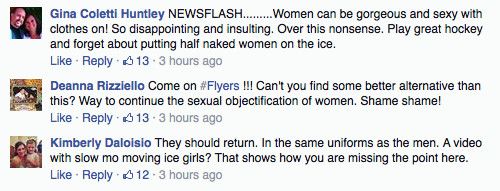 FB ICE GIRL COMMENTS
